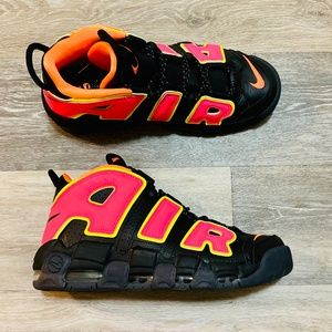 Nike Air More Uptempo Pippen Hot Punch Black
